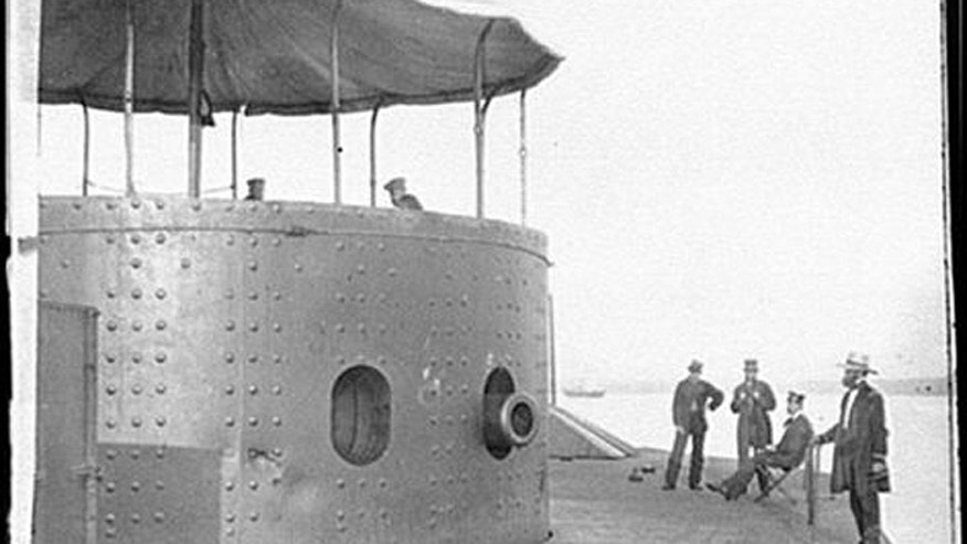 The bodies were found when the USS Monitor's rusty gun turret was raised from the ocean floor. ( National Oceanic and Atmospheric Administration)