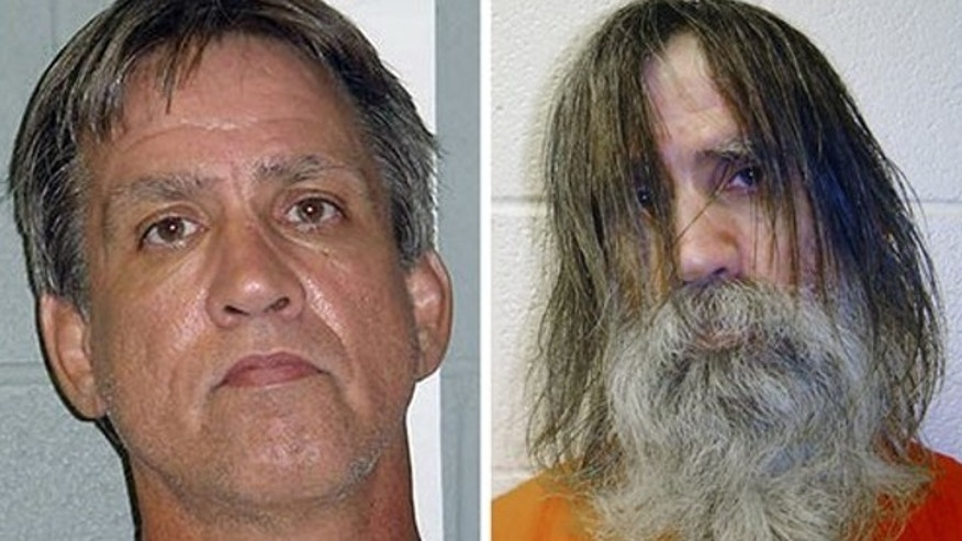 FILE: This photo combination made from images provided by the Dona Ana County Sheriff's Department in New Mexico, shows Stephen Slevin at the time of his arrest for drunken driving in August 2005, left, and shortly before being released from solitary confinement in May 2007.