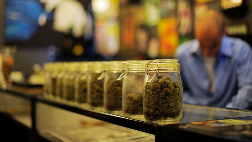 LOS ANGELES, CA - MAY 11:  Jars full of medical marijuana are seen at Sunset Junction medical marijuana dispensary on May 11, 2010 in Los Angeles, California. The dispensary is one 25 plaintiffs in a lawsuit against the city of Los Angeles fighting to stay open after city prosecutors began notifying 439 medical marijuana dispensaries that they must shut down by June 7.  (Photo by Kevork Djansezian/Getty Images)