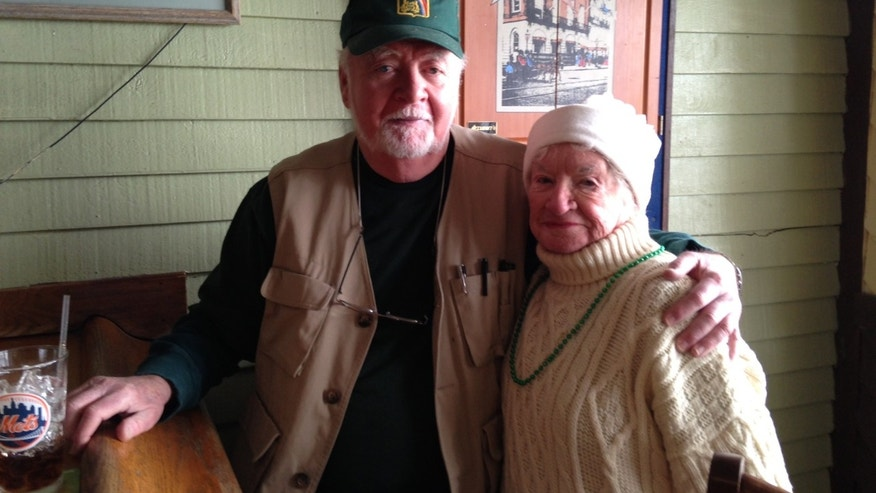 Jerry O'Hara watched Sandy from the Blarney Castle. He is joined by Betty Glennon, who has been living in New Jersey since the storm.
