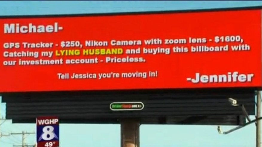 The individual behind this billboard in Greensboro, N.C. has not been identified.