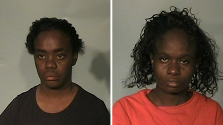 Karimah Elkins, left, and Katrina Elkins, right, were arrested for giving false statements to law enforcement officials.