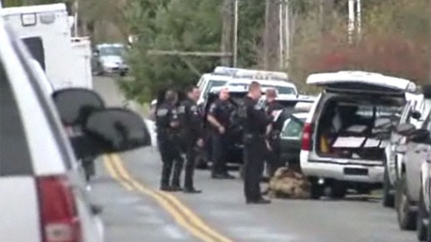 Mar. 26, 2013: Police surround a Washington state neighborhood after reports of gunshots.
