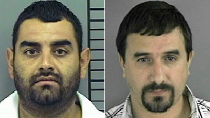 Ruben Rodriguez-Dorado, (l.) and Jose Daniel Gonzalez-Galeana (r.), were both ICE informants and drug cartal members when Rodriguez-Dorado allegedly put a hit on Gonzalez-Galeana. (El Paso Police Department, Crimestoppers)