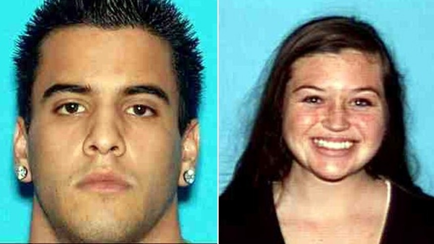 Nicholas Cendoya, left, and Kyndall Jack, right, vanished during a weekend hike in California's Cleveland National Forest.