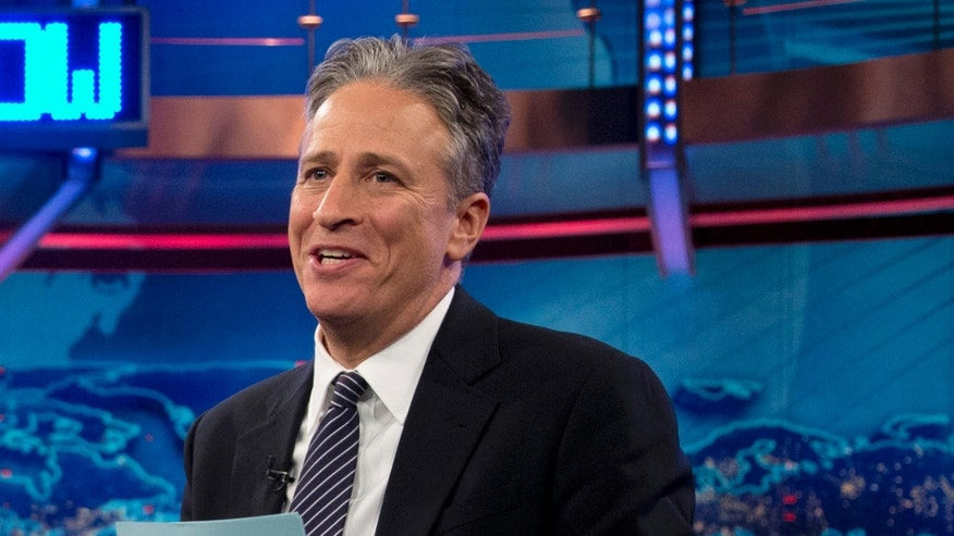 "FILE - In this Oct. 18, 2012 file photo, Jon Stewart speaks during a taping of ""The Daily Show with John Stewart"", in New York. The U.S. Embassy in Cairo has at least temporarily shut down its Twitter feed following an unusual diplomatic incident involving ""The Daily Show"" host Jon Stewart and the Egyptian government. (AP Photo/Carolyn Kaster, file)"