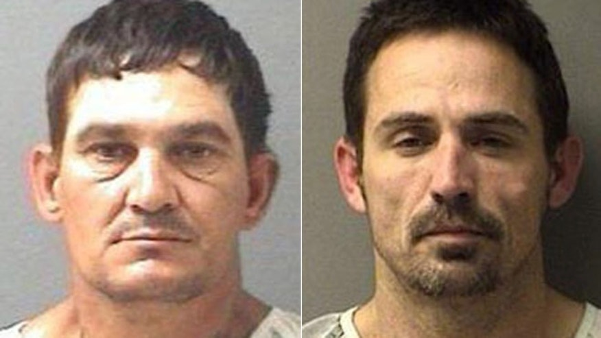 Police say Brian Allen Tucker, left, of Sulphur Springs and John Marlin King of Cumby escaped from the Hopkins County Jail on Tuesday morning.