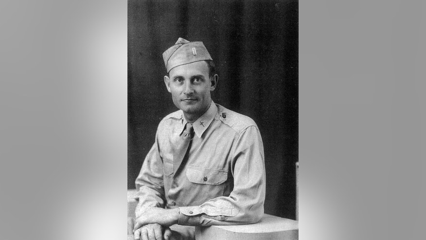 This circa 1943 photo provided by the U.S. Army shows Chaplain Emil Kapaun, who served in the Korean War and died in a prisoner of war camp on May 23, 1951.