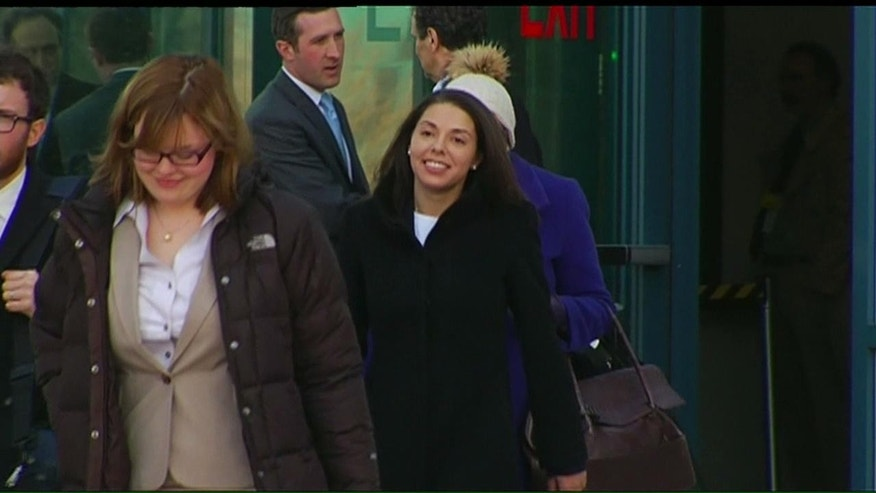 April 10, 2013: FoxNews.com reporter Jana Winter leaves a district court following a hearing for Aurora theater shooting suspect James Holmes in Centennial, Colo.