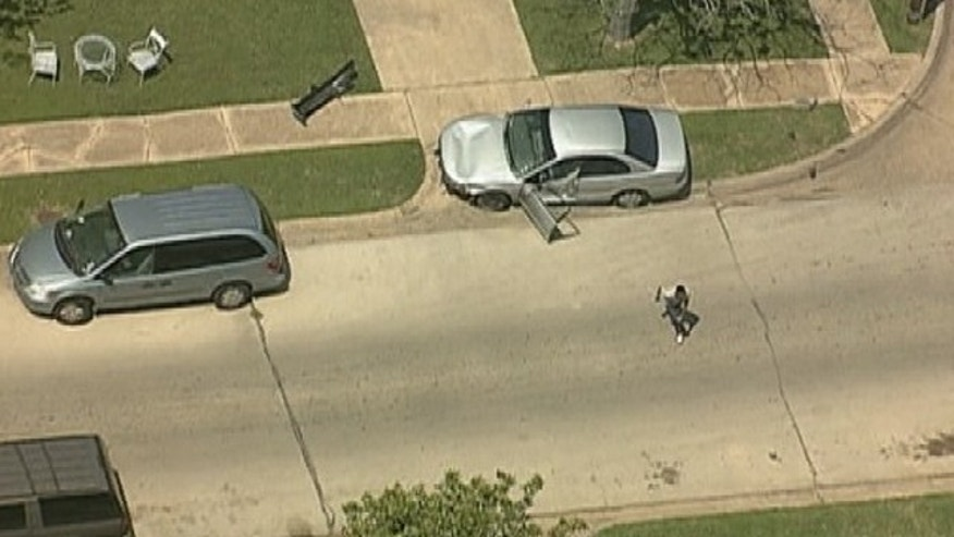 April 15, 2013: Police say a Dallas man shot and killed a pregnant woman before leading them on a high-speed chase.