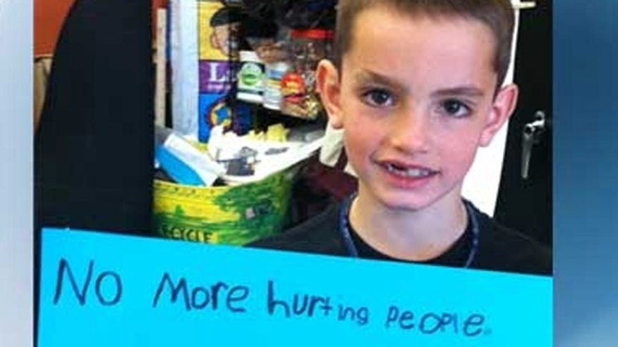 Eight-year-old Martin Richard was among the three people killed in the explosions Monday.