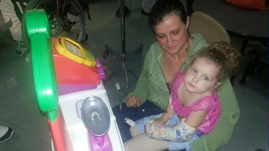 Ireland Nugent lost both her legs and part of her hand after she ran in front of a lawnmower her father was driving.