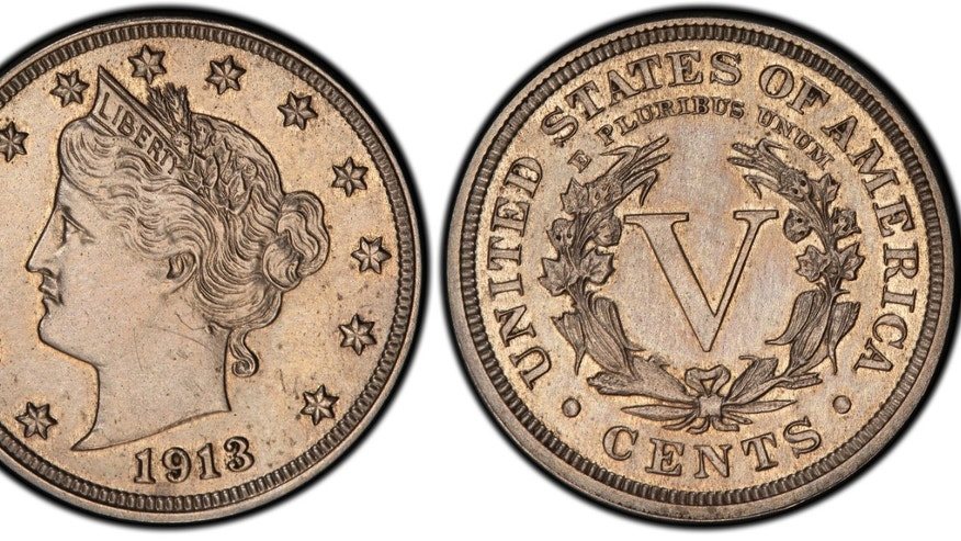 FILE - This Jan. 2, 2013 image provided by Heritage Auctions shows an authentic 1913 Liberty Head nickel that was hidden in a Virginia closet for 41 years after its owners were mistakenly told it was a fake. The nickel is one of only five known and was sold Thursday April 25, 2013 at an auction conducted by Heritage Auctions in the Chicago suburb of Schaumburg, Ill., for $3,172,500.  (AP Photo/courtesy of Heritage Auctions.)
