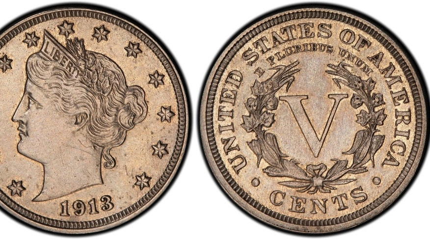 This Jan. 2, 2013 image provided by Heritage Auctions shows an authentic 1913 Liberty Head nickel that was hidden in a Virginia closet for 41 years after its owners were mistakenly told it was a fake.