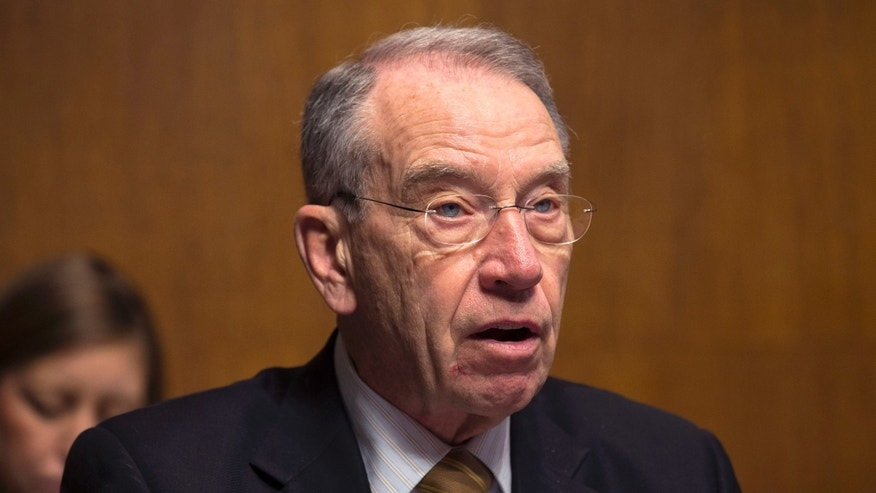 March 18, 2013: Senior Republican on the Senate Judiciary Committee, Sen. Chuck Grassley, R-Iowa, speaks at a committee hearing on immigration reform on Capitol Hill in Washington.