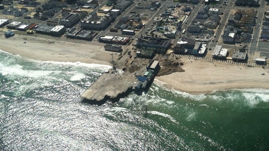 Repair crews are working around the clock at the Casino Pier and Boardwalk in Seaside Heights, NJ, both of which are expected to be open in some sort of capacity by Memorial Day weekend.