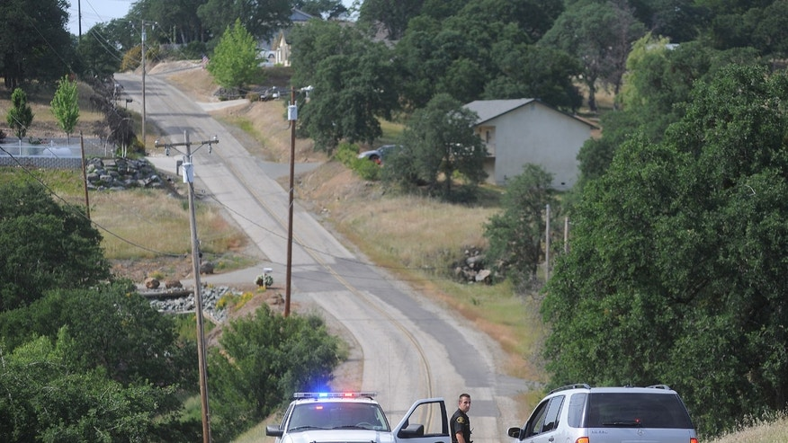 In a Sunday April 28, 2013 photo, a Calaveras County Sheriff's deputy detains a driver on Rippon Rd. in Valley Springs, Calif., where 8-year-old Leila Fowler was found murdered Saturday evening. (AP Photo/The Modesto Bee, Elias Funez) LOCAL TV OUT (KXTV10, KCRA3, KOVR13, FOX40, KMAX31, KQCA58, CENTRAL VALLEY TV); LOCAL PRINT OUT (TURLOCK JOURNAL, CERES COURIER, OAKDALE LEADER, MODESTO VIEW, PATTERSON IRRIGATOR, MANTECA BULLETIN, RIPON, RECROD, SONORA UNION DEMOCRAT, AMADOR LEDGER DISPATCH, ESCALON TIMES, CALAVERAS ENTERPRISE, RIVERBANKS NEWS) LOCAL INTERNET OUT (TURLOCK CITY NEWS.COM, MOTHER LODE.COM)