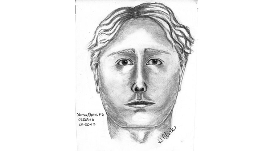 April 30, 3013: This sketch released by the Norton Shores, Mich., Police Department, shows a man wanted for questioning in the April 27 disappearance of Jessica Heeringa, 25, from a gas station where she was working as a clerk.
