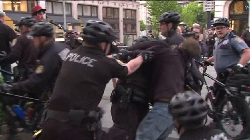 May 1, 2013: Seattle police respond after a May Day protest grows violent.