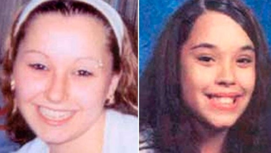 Amanda Marie Berry (L) and Gina Lynn Dejesus are pictured in this combination photograph in undated handout photos released by the FBI.
