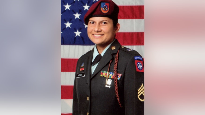 "Sgt. 1st Class Naida Hosan is shown in this undated U.S. Army photo provided by Sgt. Nova. With her family name emblazoned on her uniform, The sergeant says she was routinely the target of derogatory remarks from other soldiers who mistakenly assumed she is a Muslim. So before deploying for her second war tour, the life-long Catholic legally changed her name to Nadia Christian Nova. The 82nd Airborne, who in a federal lawsuit she claims branded her a ""Muslim sympathizer,"" revoked her security clearance and tried to force her out of the Army with a less than honorable discharge. (AP Photo/US Army)"