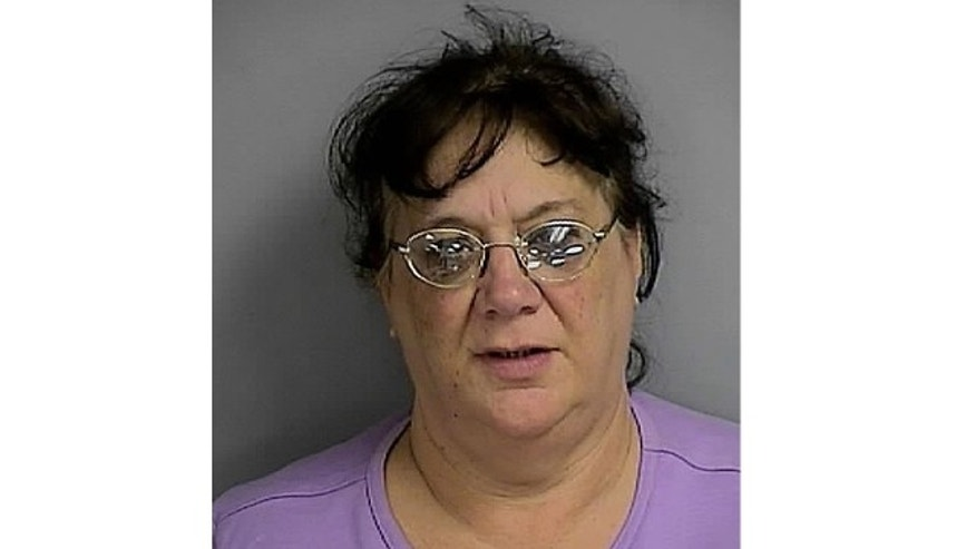 UNDATED: This photo shows 57-year-old Debra Farinella, who is accused of stealing items from a Florida cemetery.