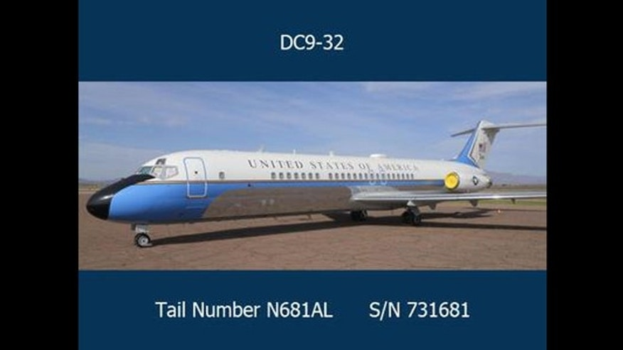 Federal officials at the General Services Administration are set auction off this week a plane that once served as Air Force One.