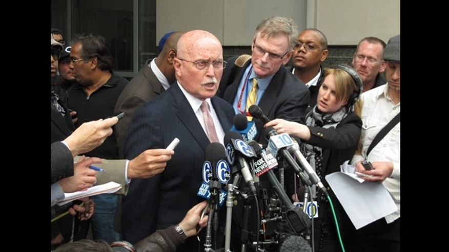 May 13, 2013: In this photo, Dr. Kermit Gosnell's attorney Jack McMahon speaks to reporters after a verdict was delivered in the abortion doctor's murder trial.  A jury convicted Gosnell for killing three babies born alive at his Philadelphia clinic, and manslaughter in the death of a patient.