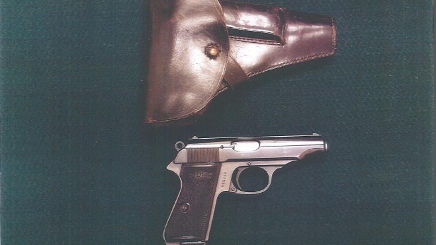 This German Walther PP 7.65mm handgun donated to a Chicago military museum by relatives of U.S. Army Maj. Gen. William P. Levine is currently kept in a safe along with a dozen other donated handguns at a gun range in suburban Lombard, where they are exempt from the Chicago Firearms Ordinance, museum officials said. (Courtesy: Pritzker Military Library)