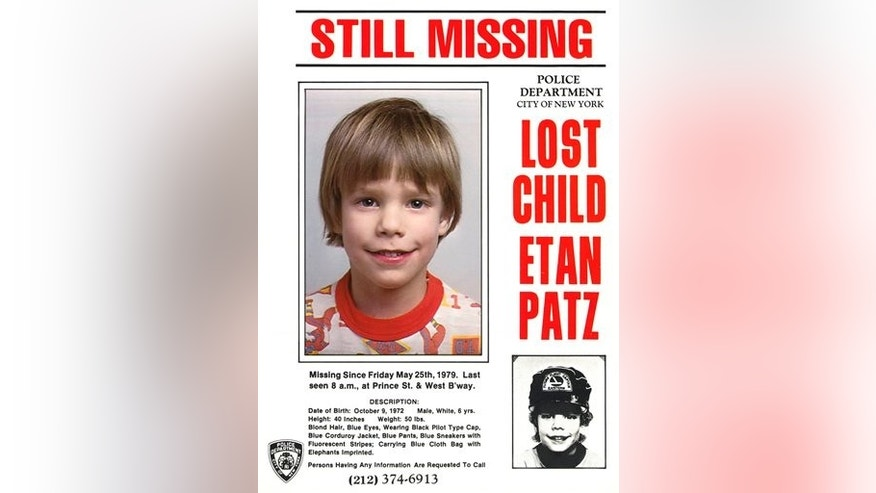 Etan Patz vanished in New York on May 25, 1979.