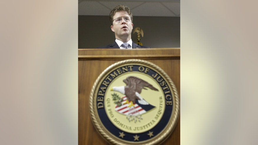 U.S. Attorney David B. Barlow, of Utah, speaks during an interview at his office Thursday, May 16, 2013, in Salt Lake City. U.S. authorities in Idaho said they have arrested Fazliddin Kurbanov, a man from Uzbekistan accused of conspiring with a designated terrorist organization in his home country and helping scheme to use a weapon of mass destruction. (AP Photo/Rick Bowmer)