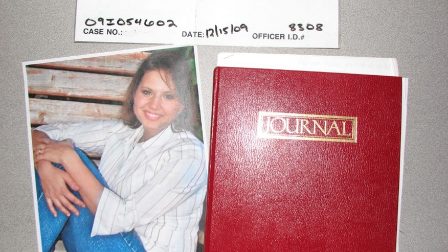 May 20, 2013: This evidence photo released by the West Valley City Police Department shows a journal collected from Josh and Susan Powell's house. Citing a lack of leads, a police agency said Monday that it is closing the active investigation of the disappearance of Susan Powell, a Utah mother whose now-dead husband was a prime suspect. West Valley City police called the news conference to offer new details in the case that's been largely kept under wraps since Powell vanished in 2009. The announcement came after police spent two days searching in rural Oregon last week for any trace of Powell's body.