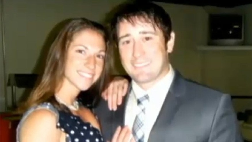 This undated photo shows Sara and Chris Cullen. Sara was killed in a training mission helicopter crash in Afghanistan.