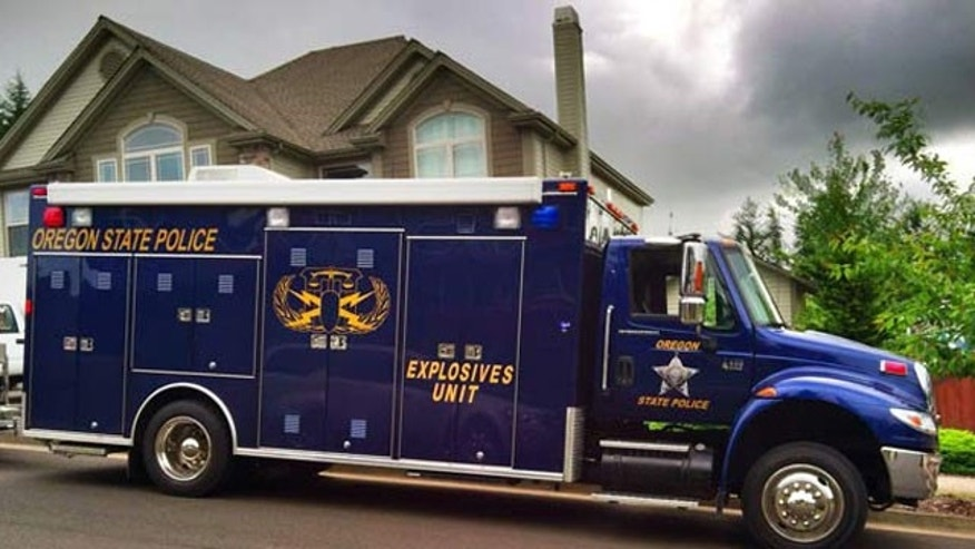 May 25, 2013: The Oregon State Police Explosives Unit responded to the scene to assess the safety risks associated with the items found at the home.