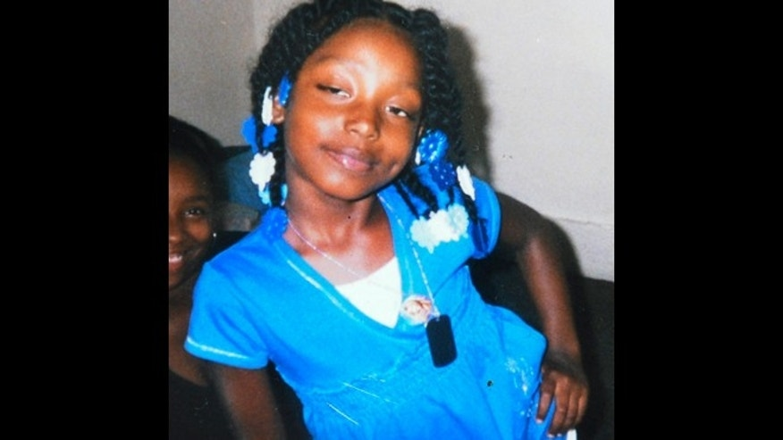 This undated file family photo shows Aiyana Stanley-Jones, 7, who was shot and killed May 16, 2010, by a shot from a Detroit police officer during a raid of a Detroit home in search of a murder suspect.
