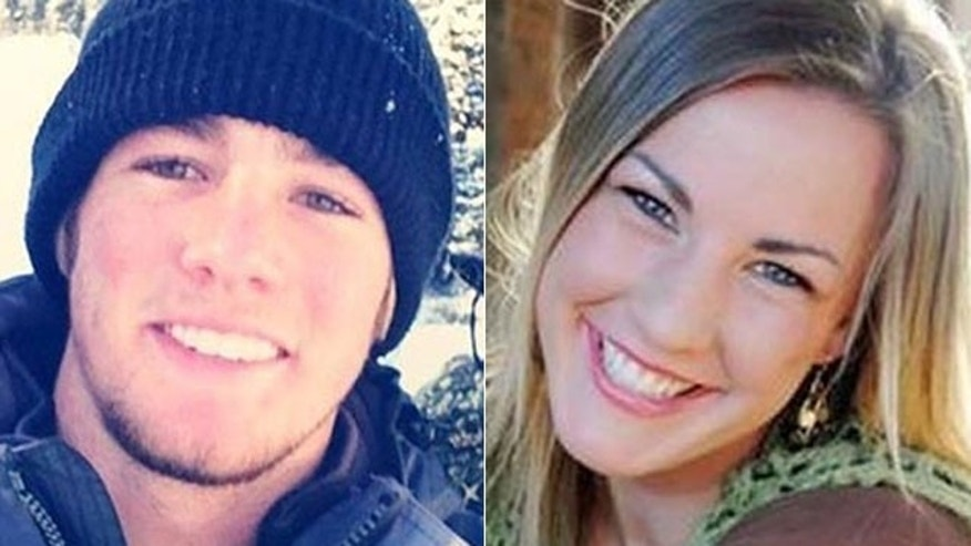 This photo shows Kevin Butler, 21, and Kimberly Linder, 18.