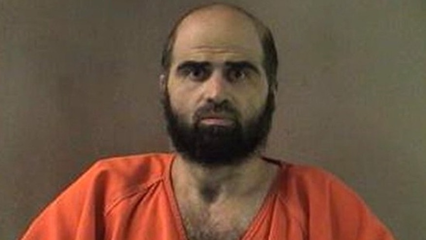This undated file photo provided by the Bell County Sheriff's Department via The Temple Daily Telegram shows Nidal Hasan, the Army psychiatrist charged in the deadly 2009 Fort Hood shooting rampage.
