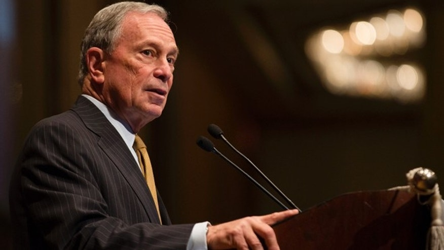 May 30, 2013: Mayor Michael Bloomberg speaks at the Real Estate Board of New York, in New York. Bloomberg was due to talk Tuesday about what to do about risks that Superstorm Sandy brought into stark relief. (AP)