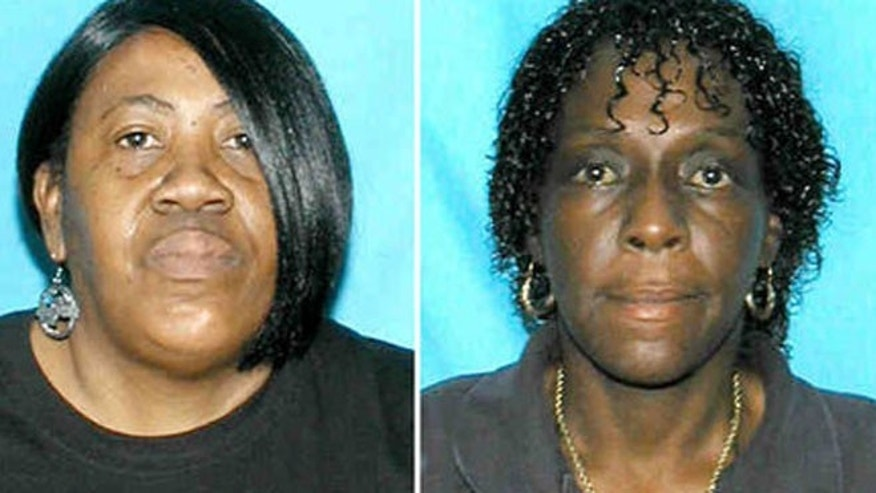 From the left, Brenda Byrd and Sheila Joiner were intoxicated and allowed a 10-year-old to drive an SUV, police say.