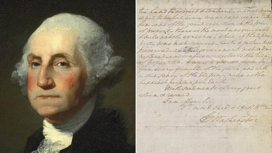 The first president's plea is expected to fetch as much as $2 million at auction. (National Archives/Christie's)