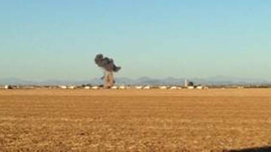 June 26, 2013: An F-16 fighter jet crashes near Luke Air Force Base in suburban Phoenix.