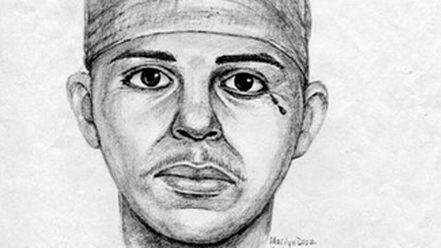 "The Los Angeles Police Department is offering a $100,000 reward for information leading to the identity, arrest and prosecution of a suspect they've dubbed the ""Teardrop"" rapist due to a possible tattoo or scar below one of his eyes. The suspect, who has left behind DNA evidence in 10 of 35 attacks dating back to 1996, most recently attempted to sexually assault a 29-year-old victim in Los Angeles on June 15, 2012. (Courtesy: LAPD)"
