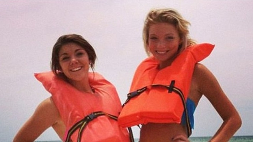 Alexis Fairchild (left) and Sidney Good (right) were injured Monday in a parasailing accident in Panama City Beach,