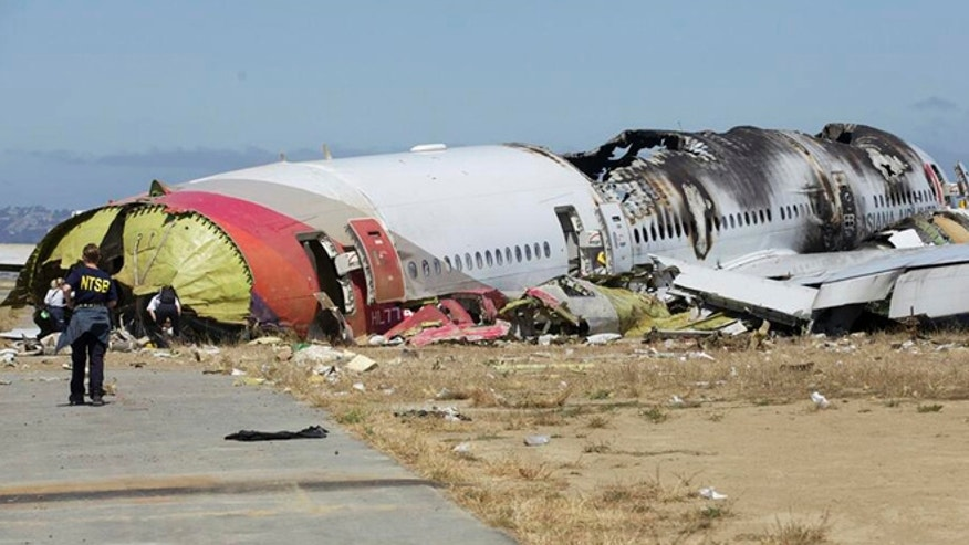 U.S. National Transportation Safety Board (NTSB) photo shows the wreckage of Asiana Airlines Flight 214 that crashed at San Francisco International Airport in San Francisco, California in this handout released on July 7, 2013.