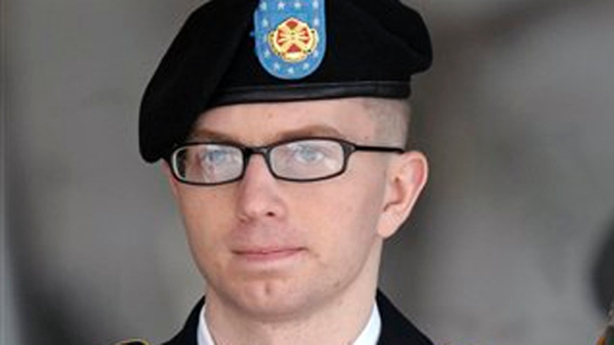 March 15, 2012: Army Pfc. Bradley Manning departs a courthouse in Fort Meade, Md. (AP)
