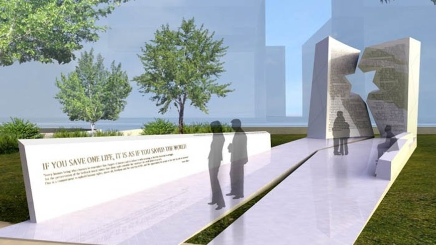 An atheist group believes the Holocaust memorial depicted above violates the separation of church and state. (daniel-libeskind.com)