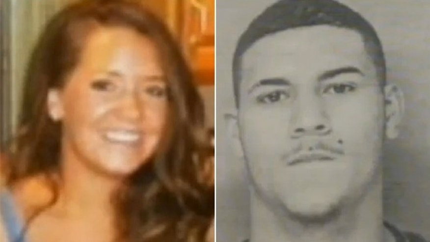 "This undated photo shows Amy Lord, left, who was abducted and fatally stabbed Tuesday.  Edwin Alemany, right, is now being called a ""person of interest"" in the case."