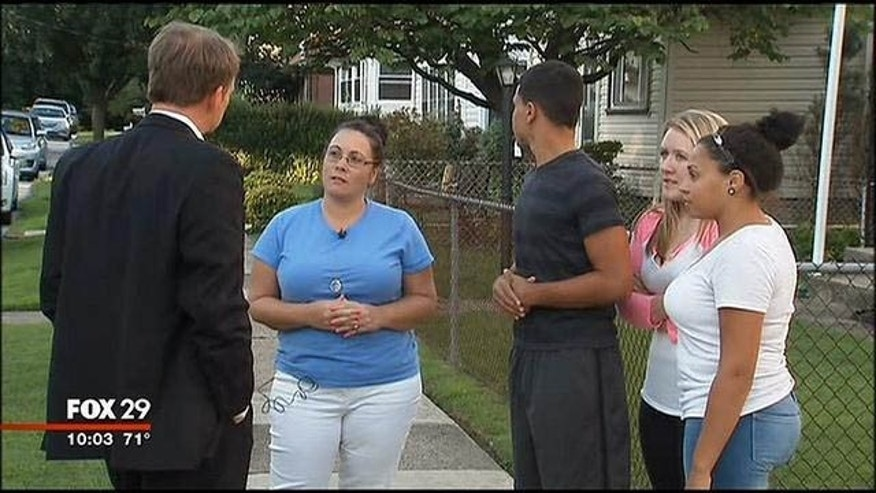 The Devonshire family of Norwood, Pa. speaks to a reporter. (MYFOXPHILLY.COM)