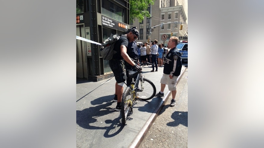 Aug. 13, 2013: The bicyclist, who was hit by the cab driver.