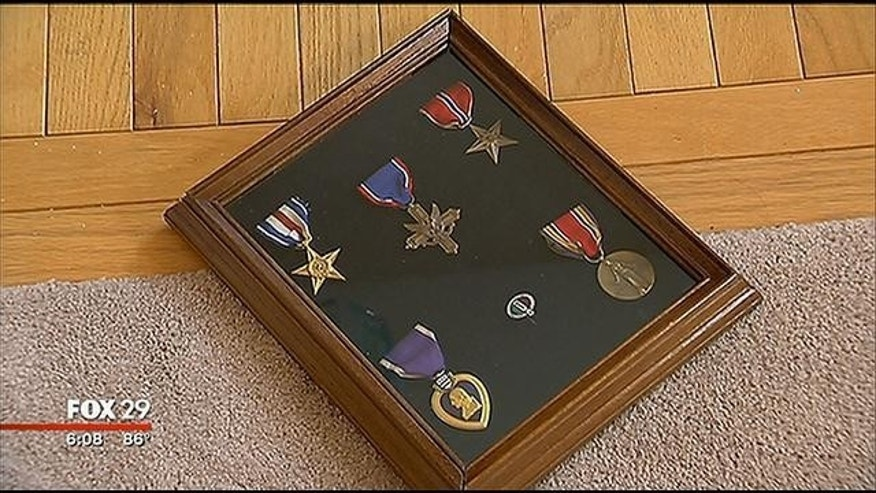 These World War II medals were found my Joan Greco and her husband nearly two decades ago. (MYFOXPHILLY.com)
